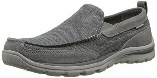 Skechers 2017 Mens Relaxed Fit Superior Slip on Milford Smart Casual Loafers UK 12 Charcoal Grey