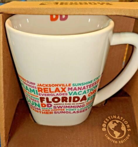 DUNKIN DONUTS 2016 FLORIDA DESTINATIONS COFFEE MUG CERAMIC CUP 14 OZ MIAMI