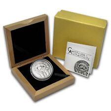 Mongolia 2012 500 Togrog Long-Eared Hedgehog Silver Coin With Coa and Box