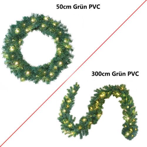 Tannengirlande Girlande  Φ50cm//300cm Türkränze Beleuchtet Weihnachtsgirlande TOP