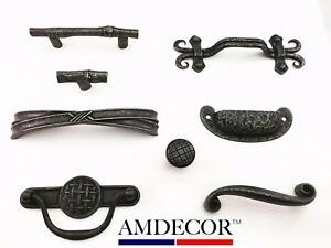 Details About Amdecor Vintage Rustic Iron Cabinet Pull Handle Hardware Designer High End