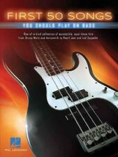 First 50 Songs You Should Play on Bass (2016, Paperback)