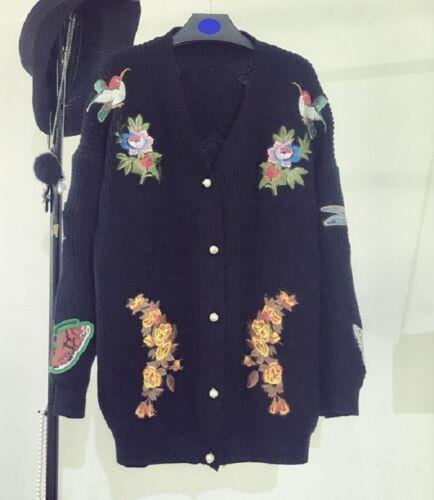 Mw008865 Cardigan ricamo moda a maglia con lavorato vrqxawdv