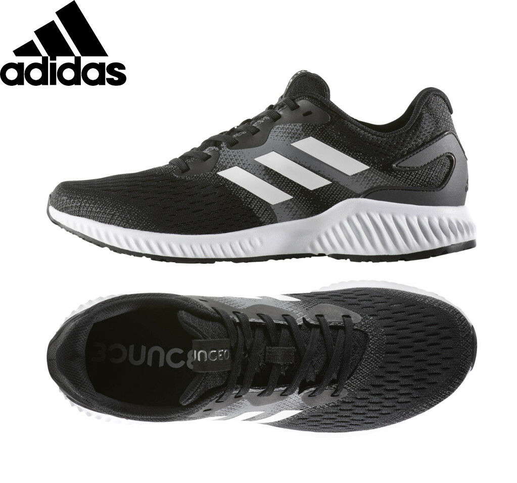 Mens SHOES ADIDAS AEROBOUNCE RUNNING SHOES Mens Black Sneakers BW0285 NEW c4a8fb