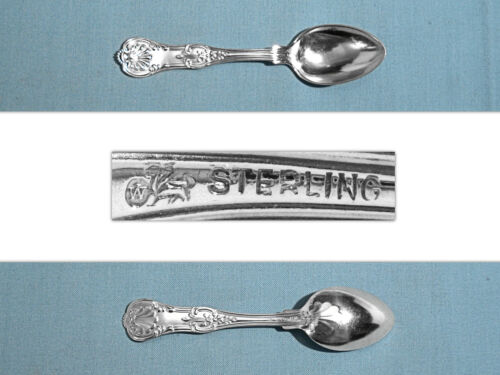 S WHITING MFG STERLING DEMITASSE SPOON ~ OLD KING ~ NO MONO