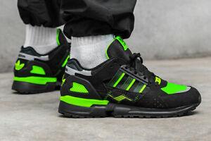 Détails sur Adidas Jacques Chassaing Zx 10000 C Hommes Noir Vert Réfléchissant Baskets