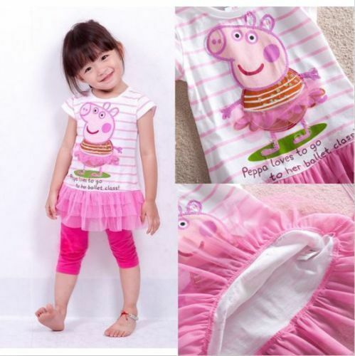 Children Baby Girl Kids Peppa Pig Tutu Dresses Clothing skirt XMAS GIFT DRESS UK