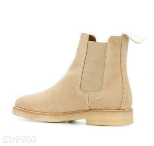 Uomo High Casual Top Chelsea Slip On Outdoor Stivali Pointy Toe Casual High Suede Ankle Stivali 983bbb