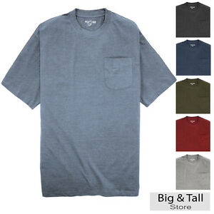 Big tall men 39 s foxfire pocket t shirts 100 cotton 3xl for Big and tall quick dry shirts