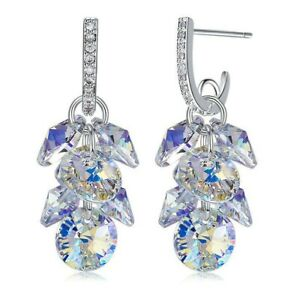 Dangle-Earrings-Swarovski-Elements-Crystal-in-Aurora-Borealis-with-Gift-Box