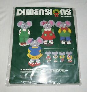 Dimensions-Felt-Embroidery-1984-Mouse-Surprise-Ornament-Set-New-in-Package
