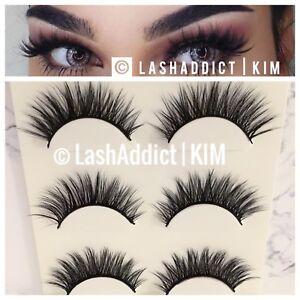 fd3a09c0b64 🌸🌷 3 Pairs Mink Lashes Eyelashes 3D WSP Natural Fur Makeup NEW ...