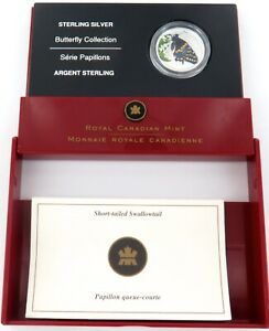 2006-ROYAL-CANADIAN-MINT-BUTTERFLY-COLLECTION-STERLING-SILVER-50C-PROOF
