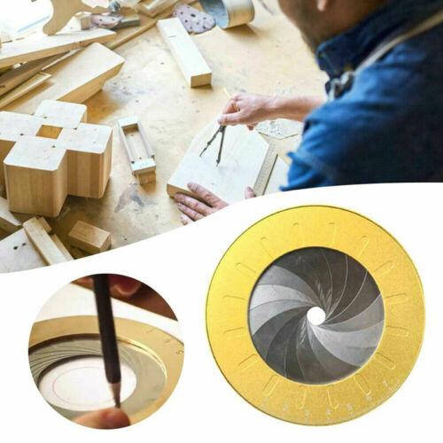Einstellbare Edelstahl Holzbearbeitung Messlineal Runde Kreis Zeichenwerkzeug