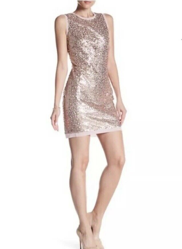 NWT Vince Camuto Sequin Fit & Flare Sleeveless Dress Größe 8
