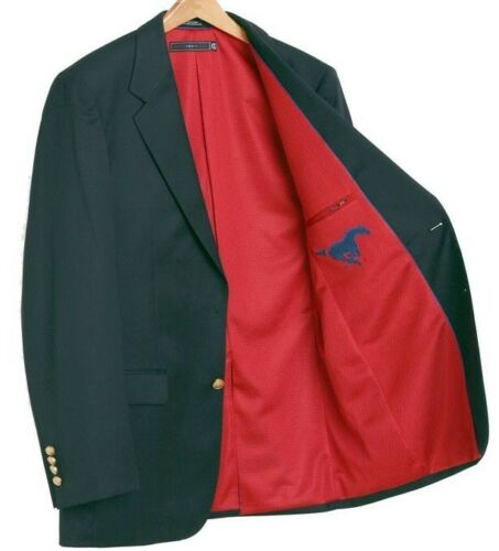 Southern Methodist Mustangs Team Blazer Licensed Sport Coat Short Regular Tall