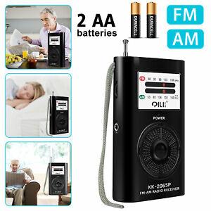 Emergency Pocket AM FM Radio Mini Portable Compact Battery Operated Loud Speaker