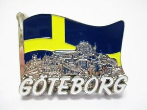 Goeteborg-Metall-Magnet-Collage-Flagge-Souvenir-Schweden