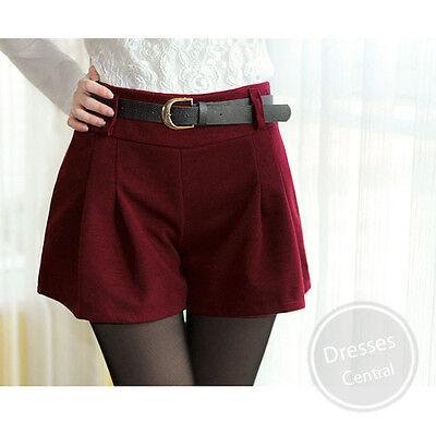 New Women girls Fashion Korean Women's Fall Shorts Casual Shorts Elastic Red