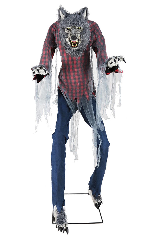 En Chasse Loup Garou Animé Figurine 7Ft Géant Allumer Mouvement Son Halloween D