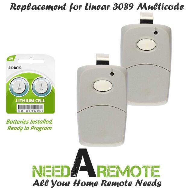 3089 multi-code multicode 3060 Linear MCS308911 300mhz 1 button remote 2 Pak