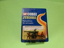 CORGI TOYS E96 MILITARY FIELD GUN + FIGURES - GREEN - NM+UNOPENED CARD BLISTER