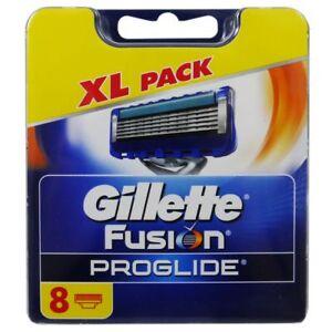 8 Gillette FUSION PROGLIDE 8 Stück Rasierklingen Klingen in OVP XL PACK