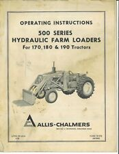 Allis Chalmers 500 Series Front End Loader 170 180 190 Tractor Owners Manual