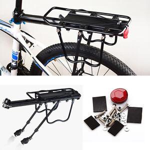 Fahrrad-Alu-Gepaecktraeger-geeignet-fuer-Mountainbike-Schnellspannhebel-50kg