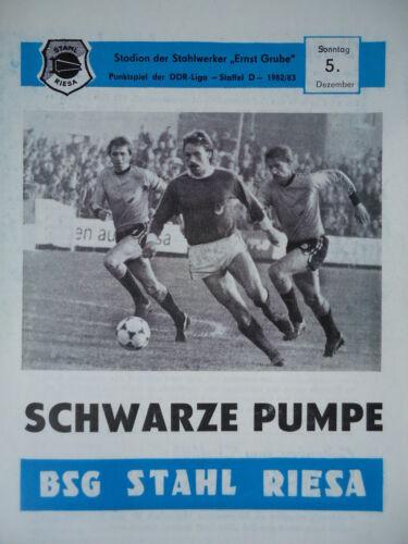 Programm 1982//83 BSG Stahl Riesa Schwarze Pumpe
