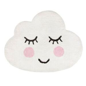 Sass-amp-Belle-Sweet-Dreams-Souriant-Cloud-Sol-en-Forme-Tapis-100-Cotton-Garcons