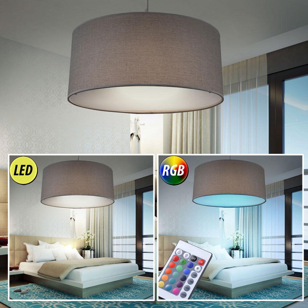 Luminaire LED suspension Télécommande Chambre à coucher éclairage gris Lumière