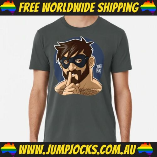 Pride Masked Bear T-Shirt Leather *FREE WORLDWIDE SHIPPING* Gay LGBT