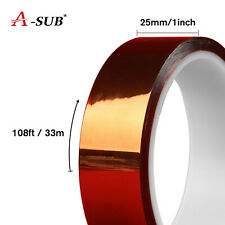 A Sub 25mm X 33m Sublimation Transfer Heat Resistant Adhesive Tape For Htv 108ft