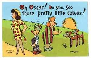 Undated-Unused-Postcard-Risque-Comic-Oscar-do-you-see-those-pretty-little-calves