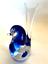 thumbnail 2 - Rubelli V.A. Murano Italy Art Glass Blue Bird Original Label 6 inches Tall