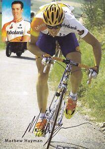 CYCLISME-carte-cycliste-MATHEW-HAYMAN-equipe-RABOBANK