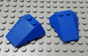 LEGO Lot of 4 White 6x4 Triple Curved Cockpit Wedge Pieces