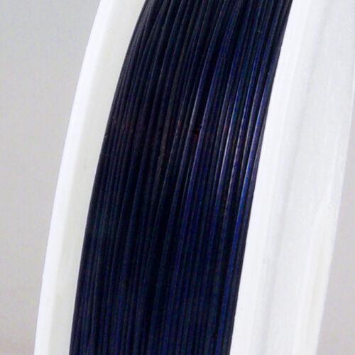 55m Schmuckdraht Basteldraht Ø 0,45mm blau nylonummantelt Draht Schmuck Basteln