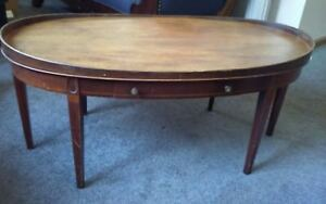 Charmant Details About Mahogany Oval Hepplewhite Coffee Table By Mersman (6964)  Antique Vintage