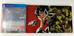 Persona-5-Royal-Phantom-Thieves-Edition-SteelBook-amp-Slipcover-ONLY-NO-GAME-PS4
