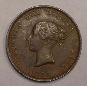 1854 CANADA NEW BRUNSWICK 1/2 Penny Token KM-3 NB-1B coin #5130