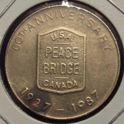 Halifax Dartmouth Bridge Commission transit token Nova Scotia NS100S