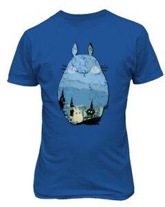 Totoro-Shirt-Studio-Ghibli-Miyazaki-Men-039-s-T-Shirt