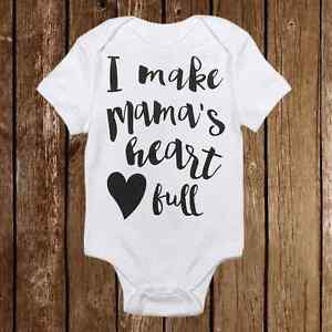 94f9f972c Adorable Baby Girl Onesie I Make My Mama s Heart Full Baby Shower ...