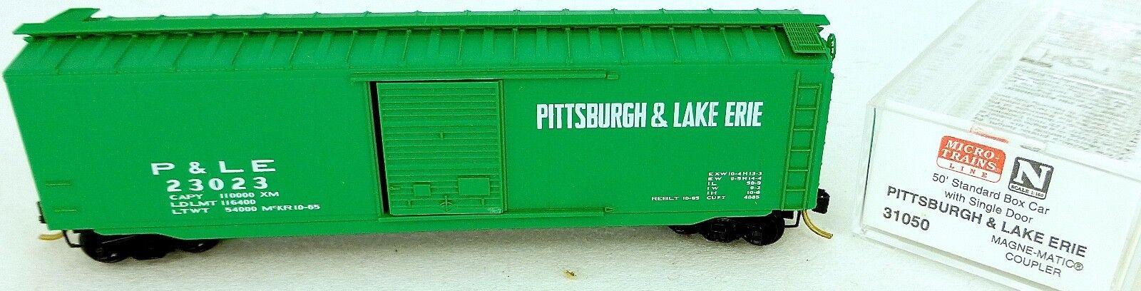 50' standard boxcar pittsburgh erie 23023 micro trains line 31050 n 1 160 C å