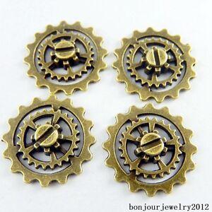50909-Vintage-Bronze-Alloy-Hollow-Gear-Wheel-Shape-Pendants-Charms-Finding-29pcs