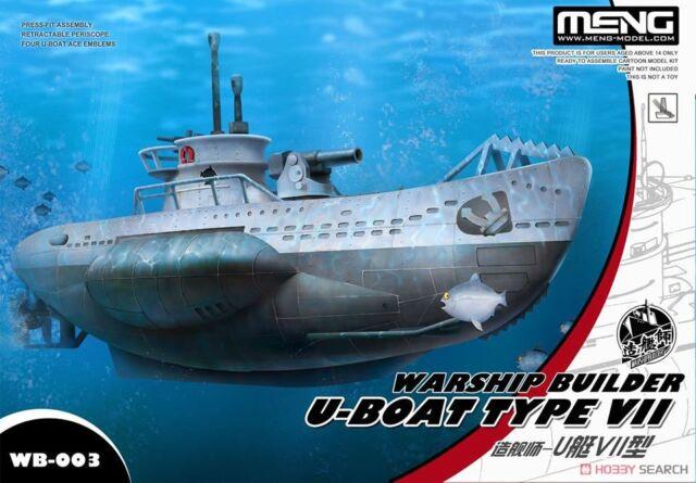 Meng Wb-003 Warship Builder U-boat Type VII Q Edition