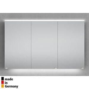 spiegelschrank bad 120 cm integrierte led beleuchtung doppelseitig verspiegelt ebay. Black Bedroom Furniture Sets. Home Design Ideas