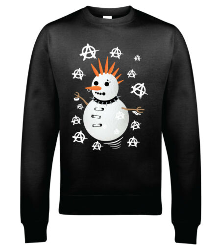 Punk Inspired Snowman Christmas Sweatshirt Hoodie Christmas Jumper Style